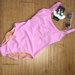 J. Crew pink one piece bathing suit - S